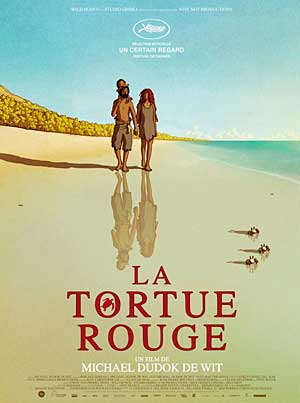 Affiche Cin�ma : Les Tortues Rouges